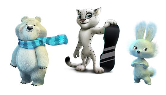 Леопард, Белый медведь и Зайка стали талисманом Олимпиады-2014