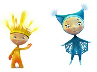 Лучик и Снежинка стали символами Паралимпийских игр в Сочи в 2014 году
